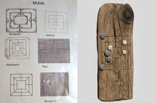 Mittelalterspielzeug: Mühle: Bodenfunde und Rekonstruktion