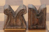 Mittelalterspielzeug: Schach: Türme nach Funden aus Lübeck