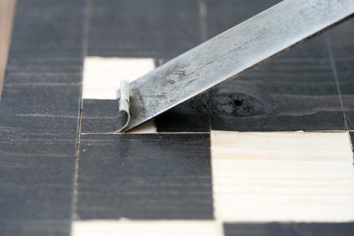 Mittelalterspielzeug: Schachbrett: Arbeitsfoto