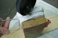 Mittelalterspielzeug: Zinnminiaturen, das Gießen