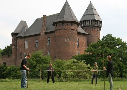 Burg Linn, Vermessungsübung